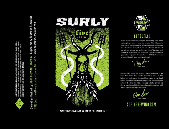Surly 5 Label