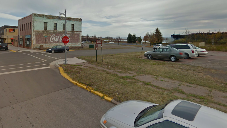 The new location in Two Harbors. See that parking lot? Imagine yourself drinking beer there...