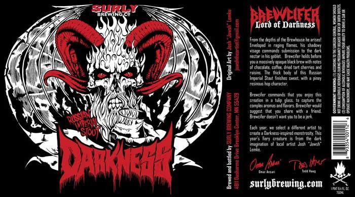Surly Darkness 2013 label