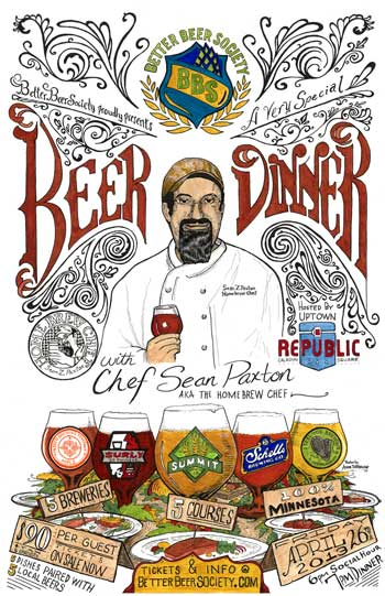 Beer dinner with homebrew chef sean paxton