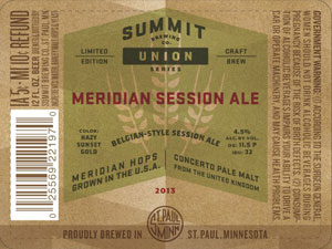 Summit Brewing Meridian Session Ale