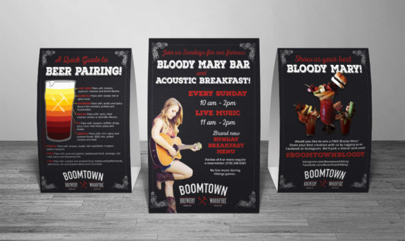 BoomTown Table Tents