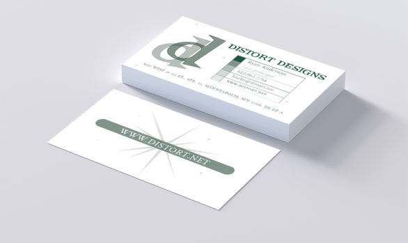 Distort Designs Logo & Business Card