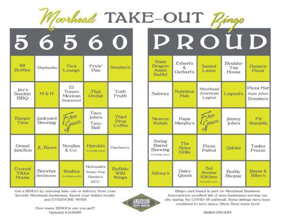 Moorhead Take-Out Bingo
